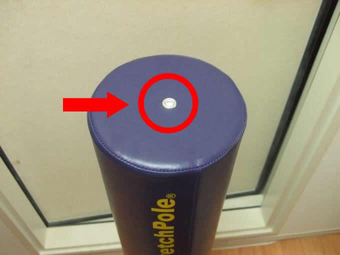 本物のストレッチポールにはココに穴があります。