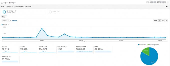 Google Analytics ユーザーサマリー