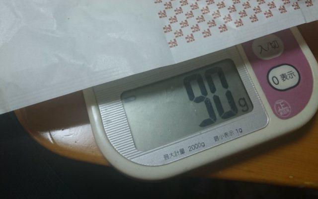 揚げ鶏の重量