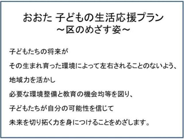 おおた 子どもの生活応援プラン(大田区子どもの貧困対策に関する計画)