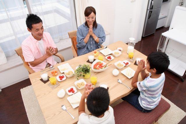 家族そろってゆっくりと朝食をとってくれた