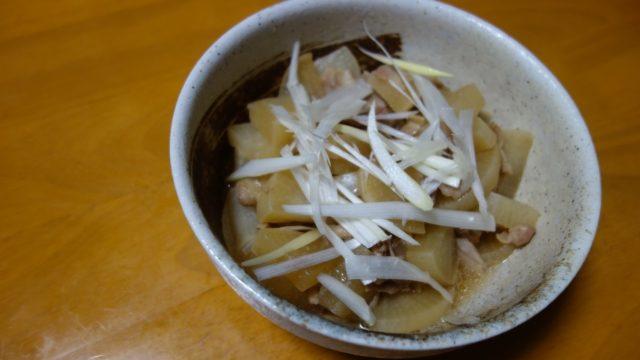 ホットクックで作った「大根と豚バラの煮物」