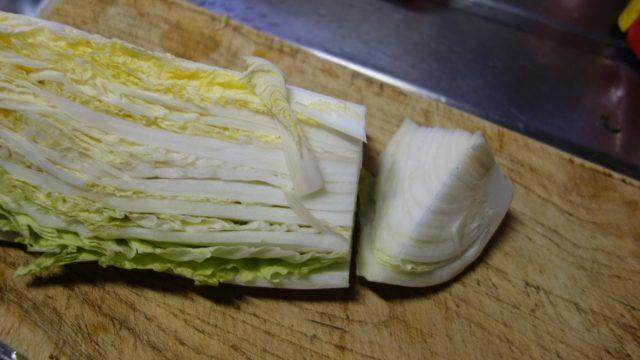 白菜をバラバラにする1