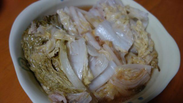 「ピーッ」と音が鳴ったら「白菜と豚バラの重ね煮」の出来上がり。